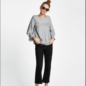 Zara Grey Top with pearl beads